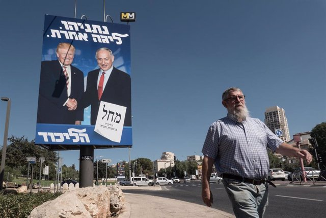 Cartel electoral de Donald Trump y Benjamin Netanyahu