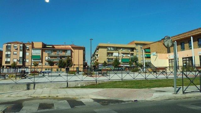 Plaza Vergara del barruio de la Alhóndiga de Getafe