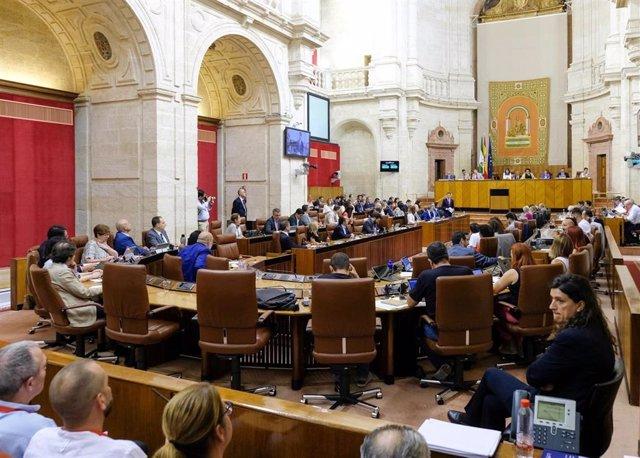 Pleno del Parlamento de Andalucía