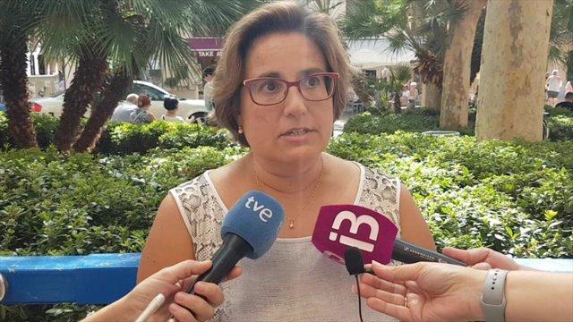 La portaveu del grup municipal del PP, Mercedes Celeste.
