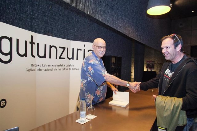James Ellroy en Azkuna Zentroa en 2015