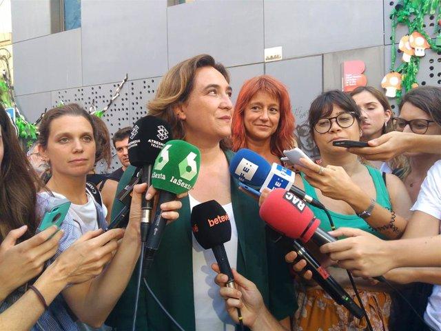 La alcaldesa Ada Colau