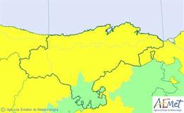 Avisos por lluvia activos para este martes en Cantabria