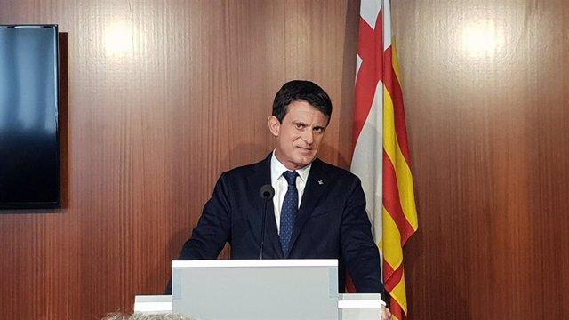 El líder de la plataforma BCN Canvi, Manuel Valls