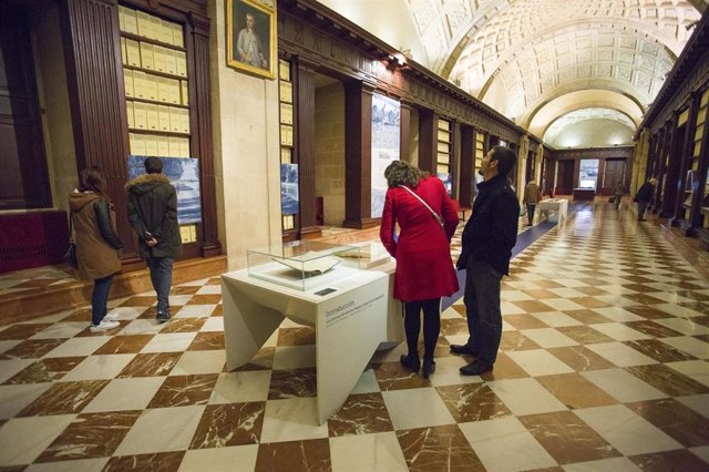 Galería expositiva en el Archivo de Indias