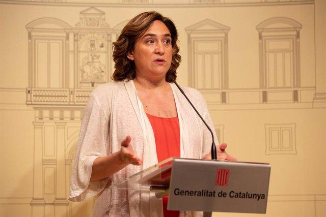 Declaraciones De La Alcaldesa Ada Colau Tras La Reunión Con El Presidente Quim Torra