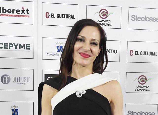 Natalia Millán en los Premios Valle Inclan de 2018