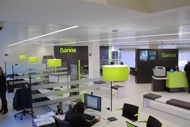 Una de las oficinas de Bankia en funcionamiento