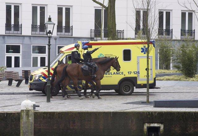 Policía montada en Róterdam