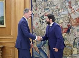 El Rey recibe al presidente de la Región de Murcia, Fernando López Miras