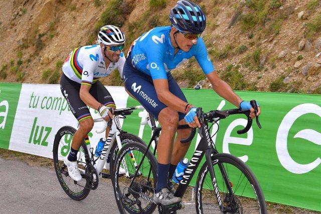 Alejandro Valverde y Marc Soler, del Movistar, en La Vuelta a España
