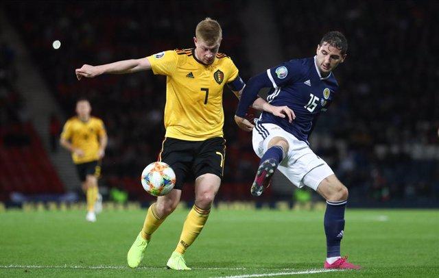 Fútbol/Eurocopa.- (Grupo I) De Bruyne guía a Bélgica en Glasgow y la hace más lí