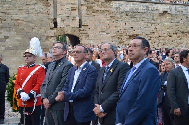 Joan Talarn, Miquel Pueyo, Quim Torra i Ramon Farré