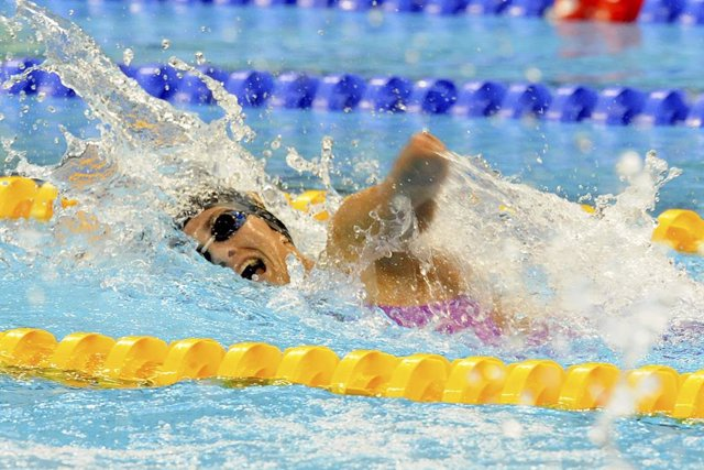 La nadadora española Sarai Gascón