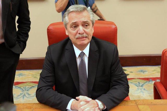 El candidato peronista a la presidencia de Argentina, Alberto Fernández.