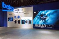El stand de lavadoras Aquatech de Beko en IFA 2019