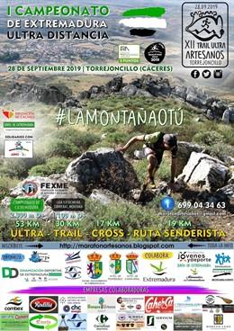 Cartel del XII Ultra Artesanos de Carrera por Montaña en Torrejoncillo