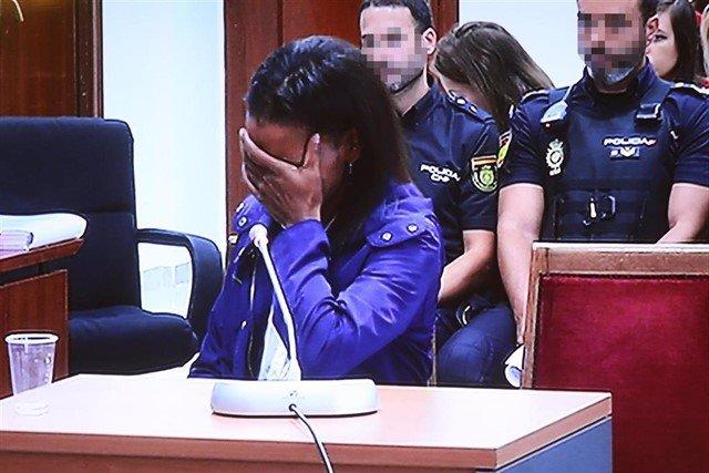 La autora confesa de la muerte del niño Gabriel Cruz, Ana Julia Quezada, a la llegada a  la Audiencia Provincial de Almería,  para declarar en la  segunda sesión del juicio.