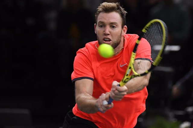 Jack Sock from United States during the Rolex Paris Masters Paris 2018 Tennis match on November 2nd, 2018 at AccorHotels Arena (Bercy) in Paris, France - Photo Virginie Bouyer / DPPI