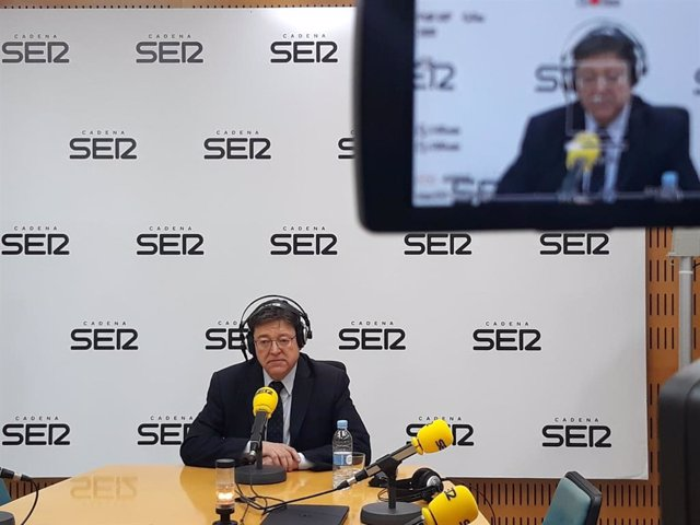 Entrevista  a Puig en la Cadena Ser en imagen de archivo