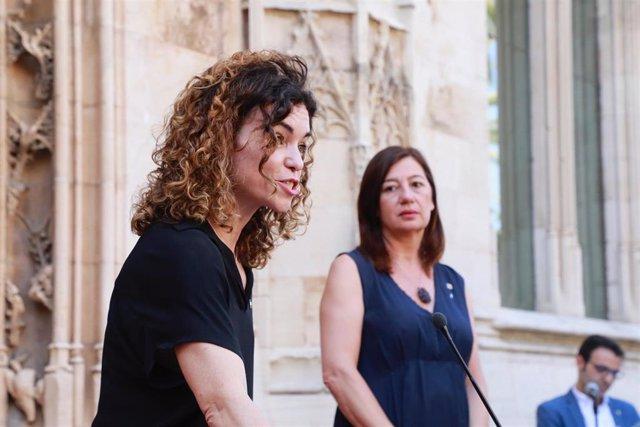 La consellera de Hacienda y Relaciones Exteriores, Rosario Sánchez, durante su toma de posesión