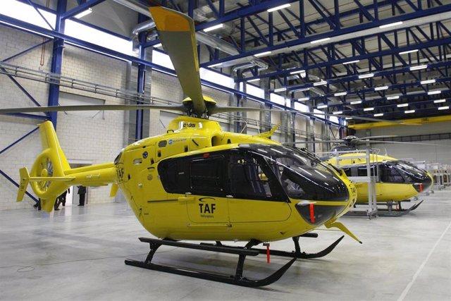 Helicóptero en el Parque Aeronáutico y Logística de Albacete (Eurocopter)