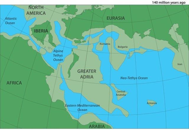 Un continente perdido quedó preservado en montañas del Mediterráneo