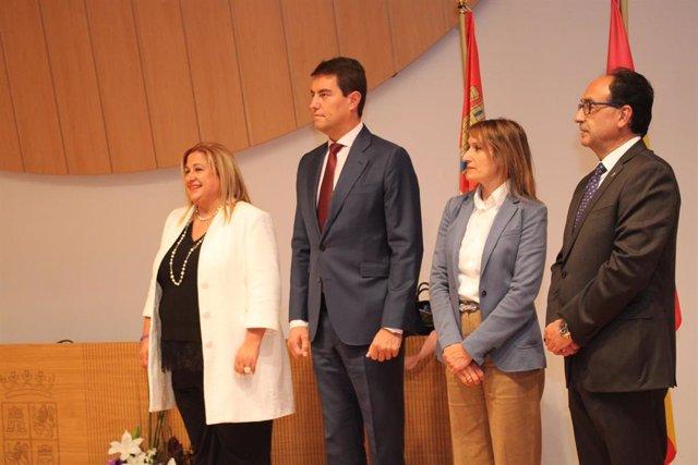 De izda a dcha, Yolanda de Gregorio, Ángel Ibáñez, Rocío Lucas y Manuel López.