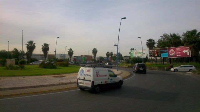 Rotonda de la autovía de Coria donde será instalada la pasarela