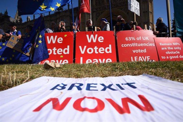 Partidarios del Brexit en Londres