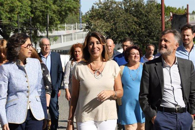 Reunión del Grupo Parlamentario Socialista, este martes en Sevilla, presidido por Susana Díaz