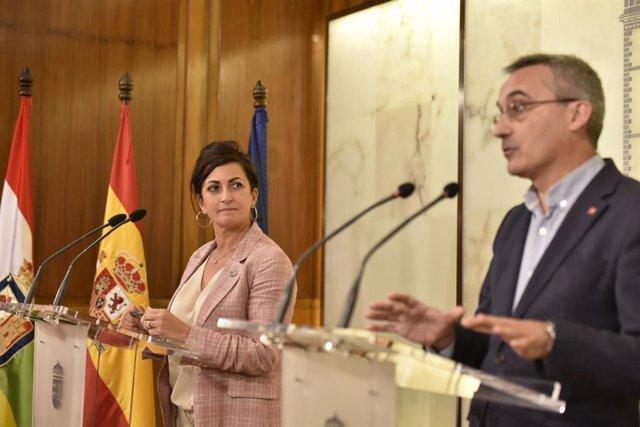 El rector de la UR, Julio Rubio, se ha reunido con la presidenta del Gobierno riojano, Concha Andreu