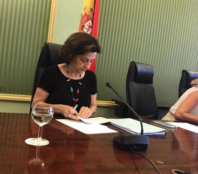 La consellera de Asuntos Sociales y Deportes, Fina Santiago.
