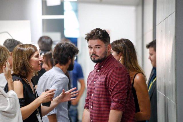 El portaveu d'ERC al Congrés dels Diputats,  Gabriel Rufián, en la Cambra baixa un dia després de la seva reunió amb representants del PSOE