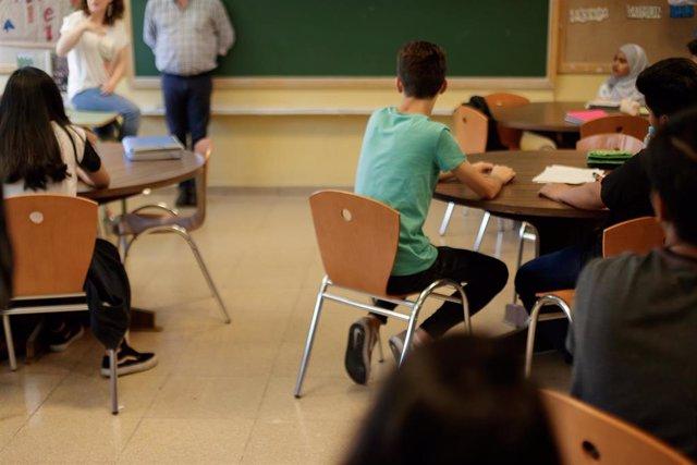 Alumnos de Secundaria durante una clase.