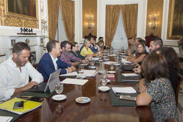 Reunión del equipo de gobierno de la Diputación de Cádiz
