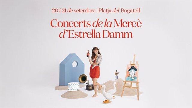 Tornen els concerts de la Mercè d'Estel Damm a la platja del Bogatell de Barcelona.