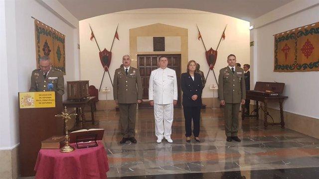 Acto de toma de posesión de la Delegación de Defensa en el Principado de Asturias este martes 10 de septiembre.