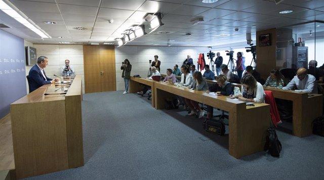 Comparecencia de prensa del Consejo de Gobierno con Chus del Río como nuevo portavoz