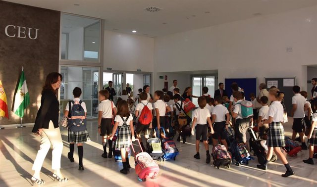 Imagen del inicio de curso en el Colegio CEU San Pablo en Sevilla.