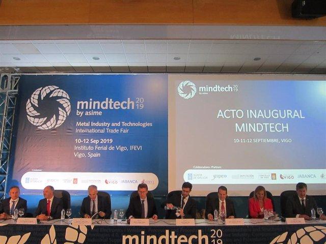 El acto inaugural de la feria Mindtech ha tenido lugar este martes en el Instituto Ferial de Vigo (Ifevi)