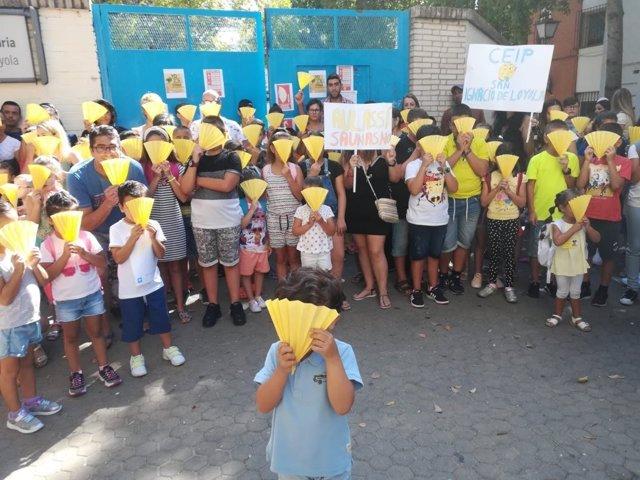 Acto de las Escuelas de Calor en uno de los colegios de Sevilla