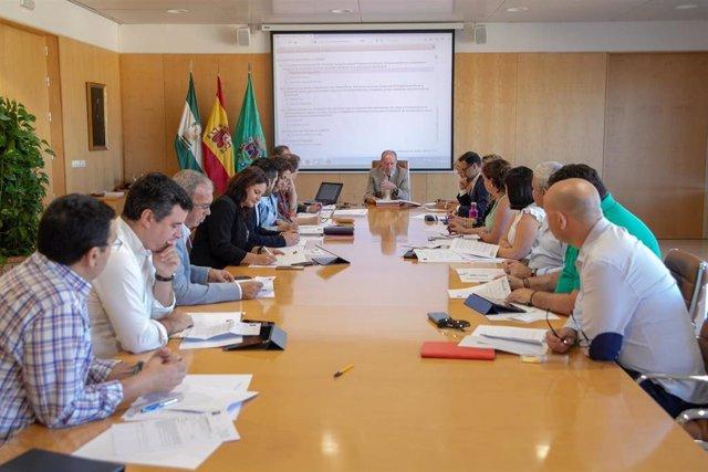 Junta de Gobierno de la Diputación de Sevilla, presidida por Fernando Rodríguez Villalobos