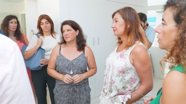 La presidenta del Govern, Francina Armengol, durant la seva visita a Eivissa el passat dimecres.