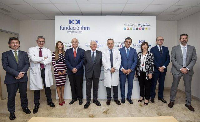 Acto de firma del acuerdo entre HM Hospitales y Mediaset para la creación de la Cátedra de Neureocinemática Aplicada