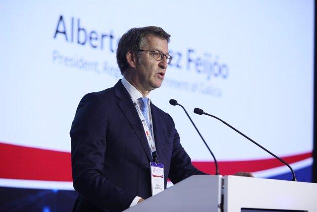 """Feijóo asegura que las regiones deben su """"época más fecunda"""" a Europa y apuesta por desarrollar el """"europeísmo afectivo"""""""