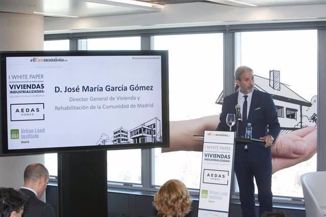 José María García, director general de Vivienda de la Comunidad de Madrid
