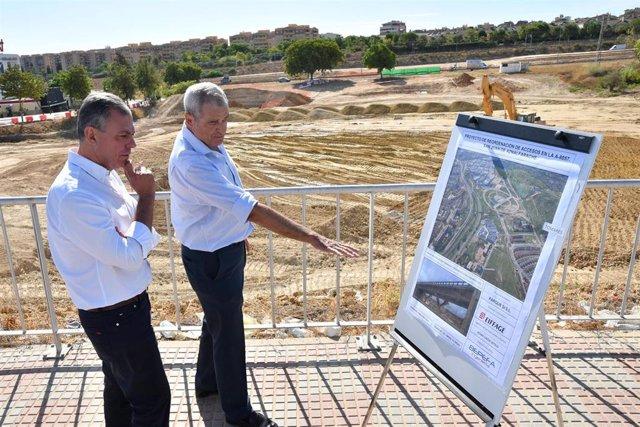 José Luis Sanz visita las obras junto al Parque Empresarial Zaudín