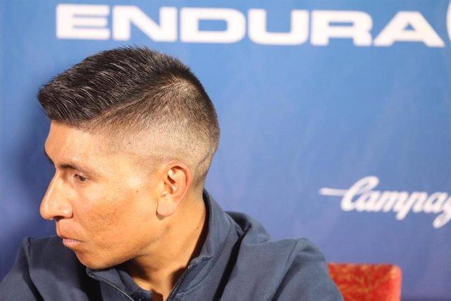 El ciclista colombiano Nairo Quintana (Movistar Team) en La Vuelta 2019