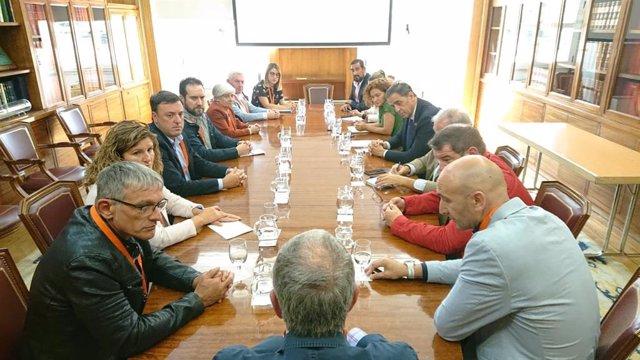 Reunión en el Ministerio de Transición Ecológica.